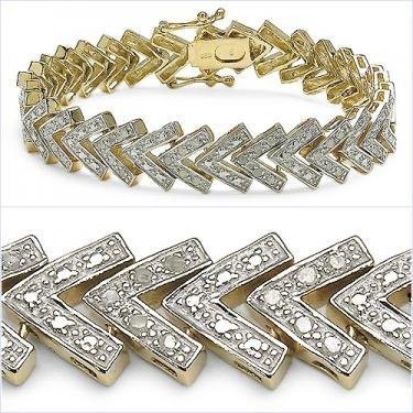 2: Full 3/4 CTW Diamonds Designer Bracelet