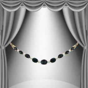 11 CT Sapphire Diamond Necklace