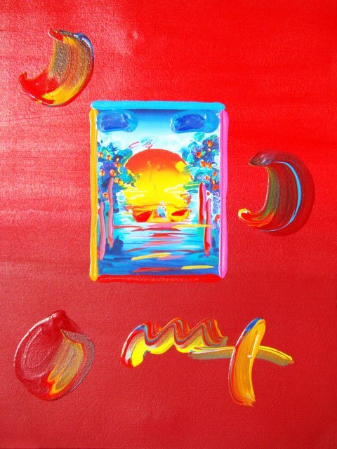 "11: Peter Max ""A BETTER WORLD"" Original Mixed Media"