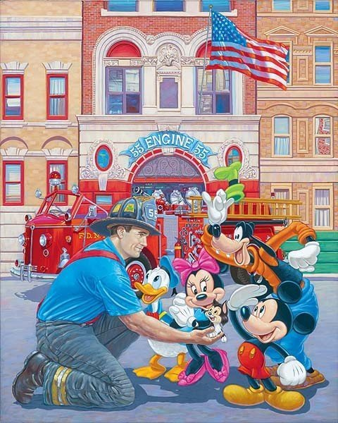 "16: Disney Fine Art ""Engine 55"" by Manny Hernandez"