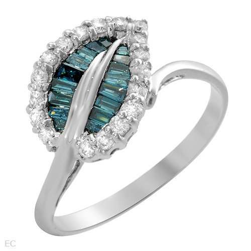 17: 0.55 CTW Diamonds 14K White Gold Ring $6,725.00