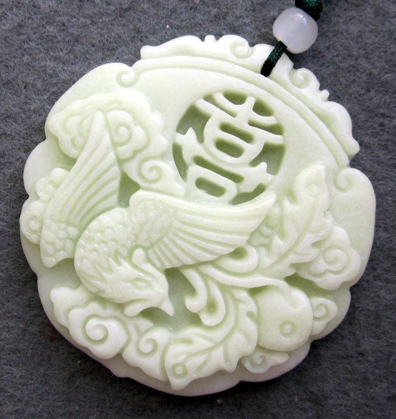 5: Chinese White Jade Good Luck Phoenix