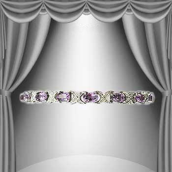 6: Amazing 12 CT Amethyst Diamond 18K Bracelet