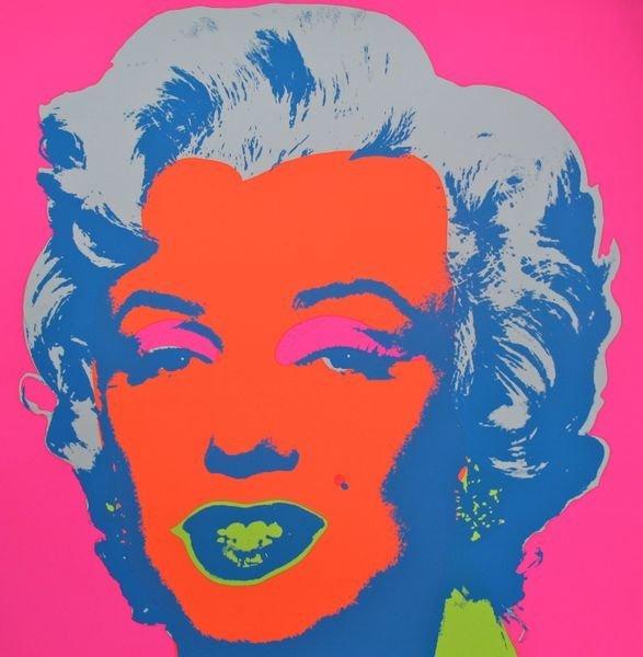 7:Andy Warhol MARILYN MONROE Sunday B Morning Serigraph