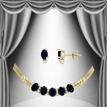 10: 8 CT Sapphire and Diamond Elegance Suite
