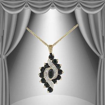 14: 2.7 CTW Sapphire Diamond Elegance Touch Necklace
