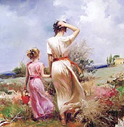 """19: """"Tuscan Stroll"""" LIMITED EDITION Giclee Canvas Pino"""