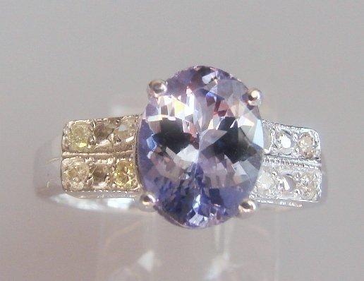 206: Tanzanite and Diamond Ring - Appraised at $12,470
