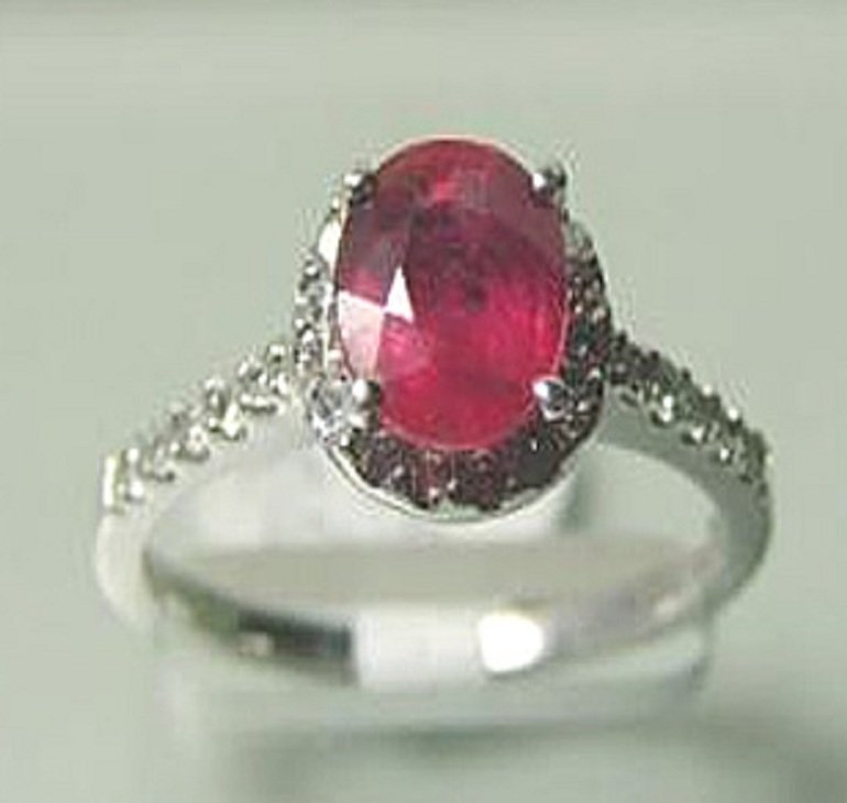 21: Natural Ruby and Diamond Ring Appraised $4,800