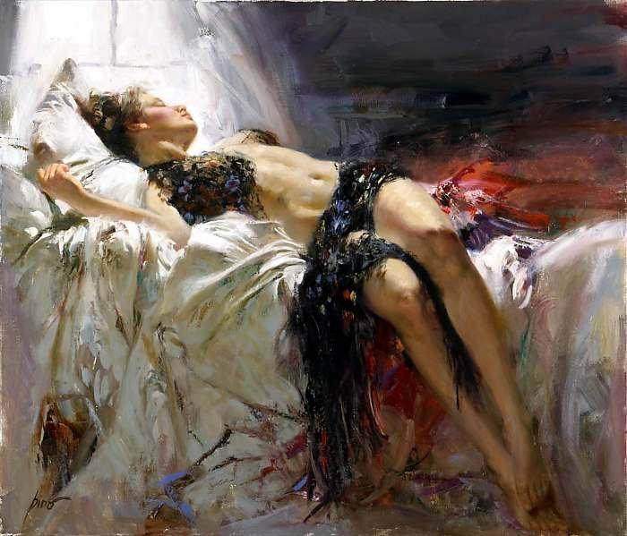 """22: """"Morning Dreams"""" Giclee on Canvas by Pino"""