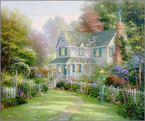 "23: Thomas Kinkade ""Victorian Garden II"""
