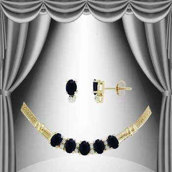 10: 8 CT Sapphire and Diamond Elegance Suite