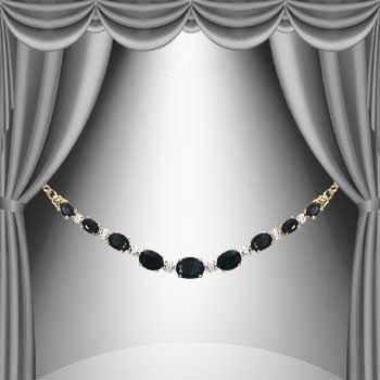 4: 11 CT Sapphire Diamond Necklace