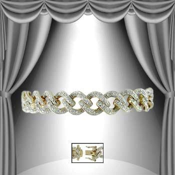 """18: """"Forever Chain of Love"""" 1.25 CT Diamond Bracelet"""