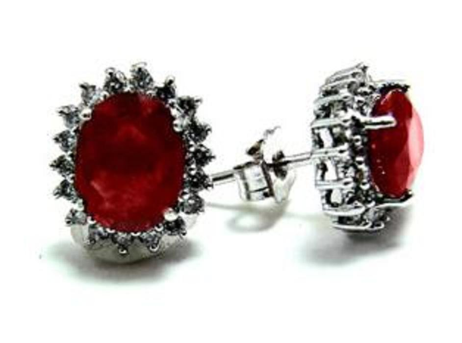 16: Natural Ruby Diamond Earrings Appraised at $3,880