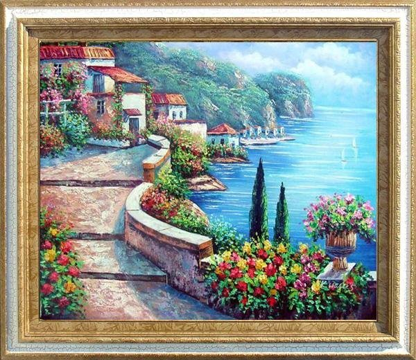 23: Framed Oil Painting on canvas - Amalfi Coast