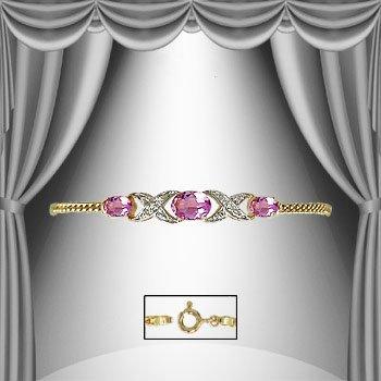4: 4.7 CT Amethyst Diamond Bracelet