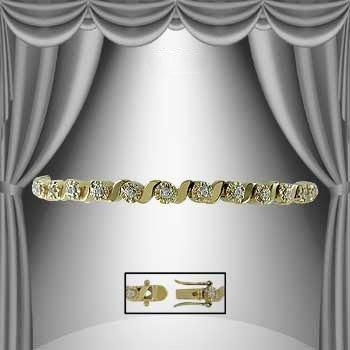 9: 1.35 CTW Diamond Tennis Bracelet