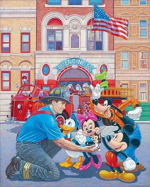 "16: Disney Fine Art ""Engine 55"" by Manny Hernandez"