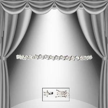 18: 1.35 CTW Diamond Silver Tennis Bracelet