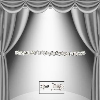 11: 1.35 CTW Diamond Silver Tennis Bracelet