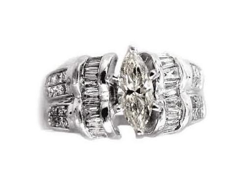 Diamond Ring 2.27 CT 18k White Gold Appraised at $17550