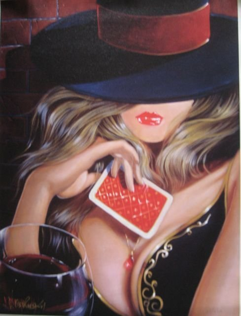 Victor Ostrovsky PLAYIN' IT CLOSE Hand Signed Canvas