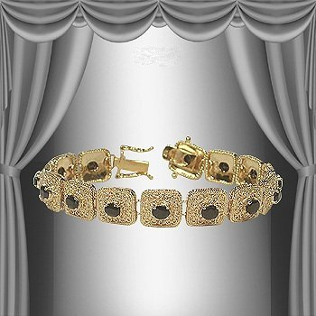 Genuine 7 CT Sapphire 18K Bracelet