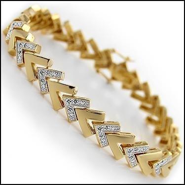 Fine Jewelry 0.94 CTW Diamond 18K Designer Bracelet