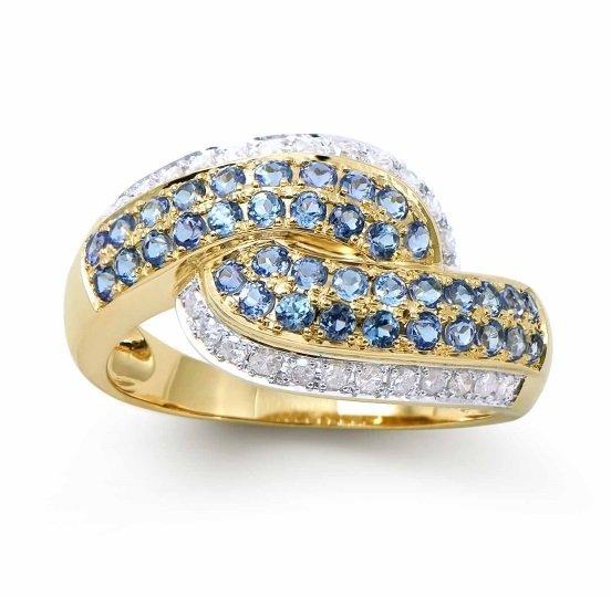1.14 CT Blue Sapphire Diamond 14KY Gold Ring $4,078.00