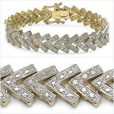 1.15 CTW Diamond Tennis 18K Designer Bracelet