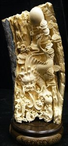 Handcrafted Ivory Flying Dragon