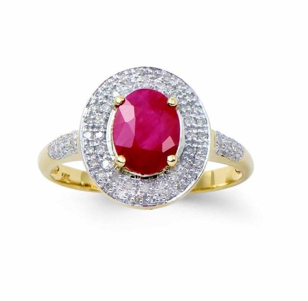 1.68 CTW Certified Burma Ruby & Diamond Ring $4,806