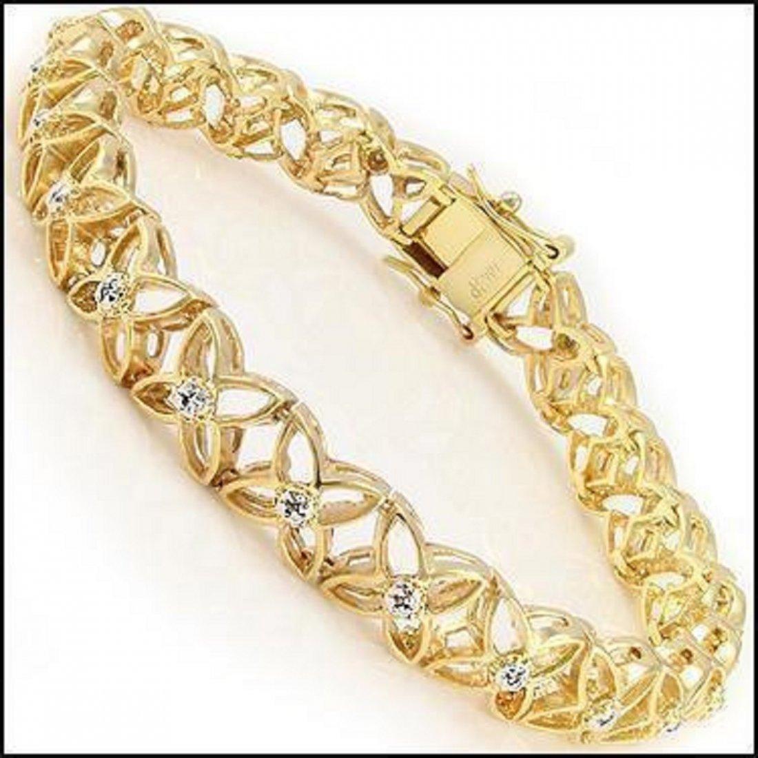 0.77 CT Diamond 18K Fine Designer Bracelet $1570