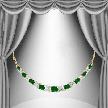 11 CT Emerald Diamond Elegance Necklace