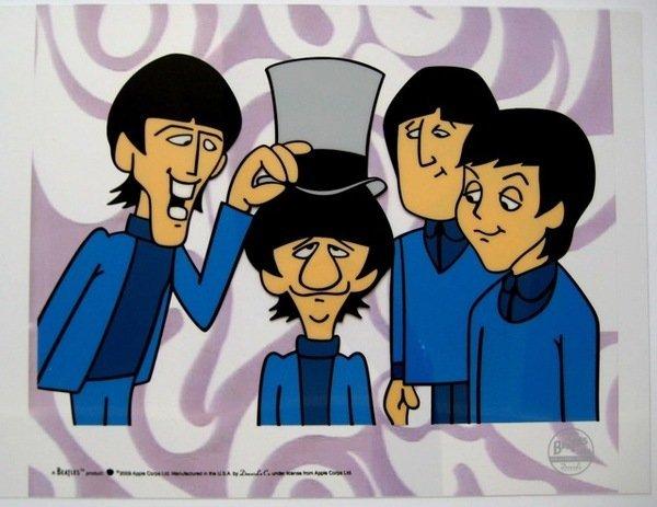 THE BEATLES RINGO TOP HAT Animation Cartoon Sericel Cel