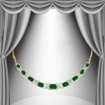 12.89 CT Emerald & Diamond Elegance 18K Necklace $1,420