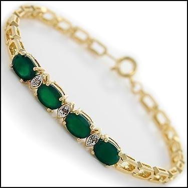 4.09 Ct Emerald & Diamond 18K Designer Bracelet