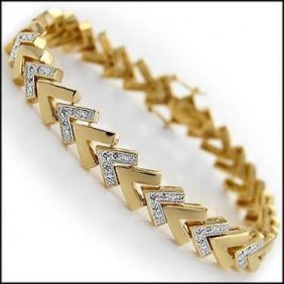 0.92 CTW Diamond 18K Fine Designer Bracelet