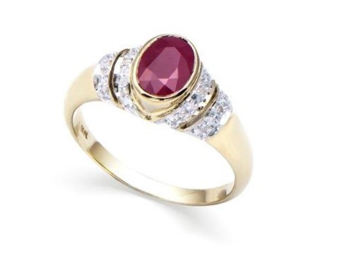 1.10 CT Certified Ruby & Diamond 14Ky Ring $6,842.00