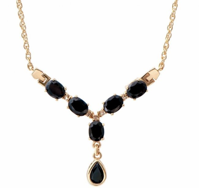 7.19 CT Sapphire & Diamond Fine 18K Necklace $1315