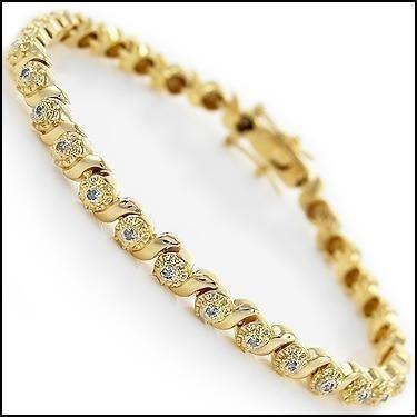 0.88 CTW Diamond 18K Fine Designer Bracelet