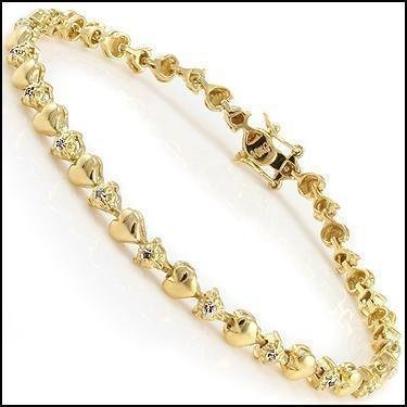 Jewelry Sale 0.69 CT Diamond Designer 18K Bracelet