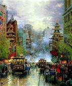Kinkade Lithograph San Francisco View Down CA Street
