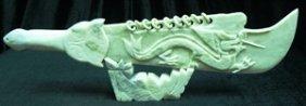 Real Jade 9-ring Dragon Sword Set