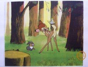 "Walt Disney ""bambi"" Serigraph Cel"