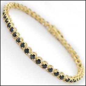 10.32 Ct Sapphire Tennis Designer Bracelet $1285