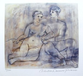 Pablo Picasso Lovers Estate Signed Ltd Ed Giclee