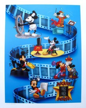 Disney Mickey Mouse Limited Ed. Lithograph With