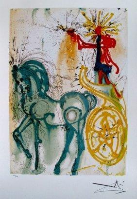 """Dali Ltd Ed. Lithograph """"le Cheval De Triomphe"""""""